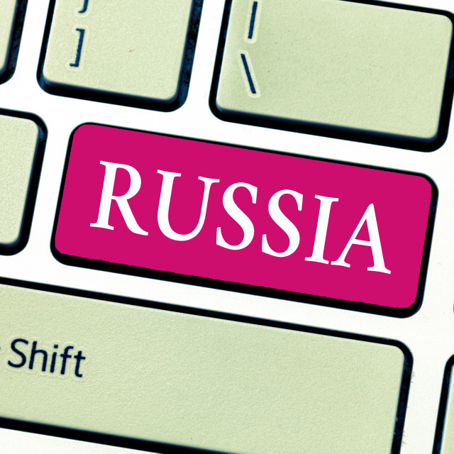 """""""Writing note showing Russia. Business photo showcasing worlds largest nation..."""" stock image"""