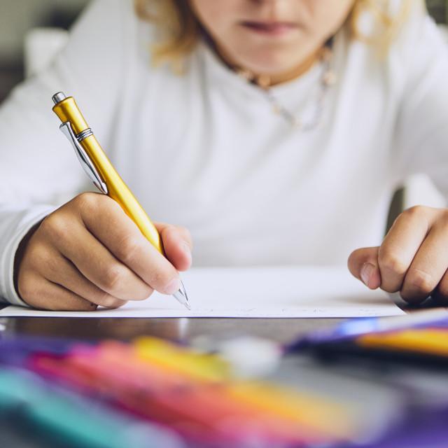 """""""Homework for elementary school"""" stock image"""