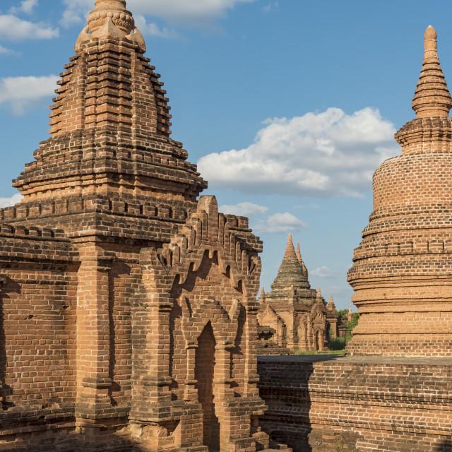 """""""Khaymingha Temples, Bagan"""" stock image"""