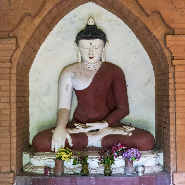 """Buddha Image, Bagan"" stock image"