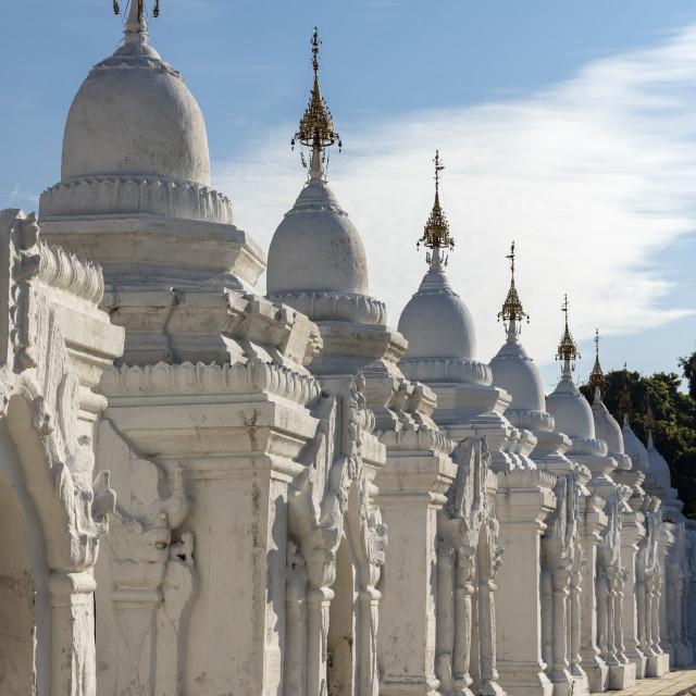 """""""Kuthodaw Pagoda, Mandalay"""" stock image"""