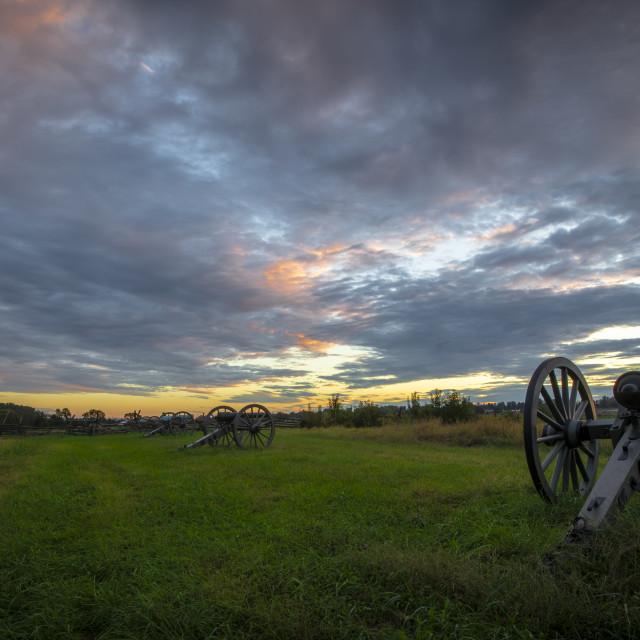 """""""Dawn at Gettysburg"""" stock image"""