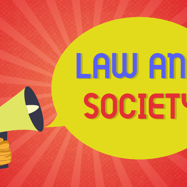 """""""Conceptual hand writing showing Law And Society. Business photo text Address..."""" stock image"""
