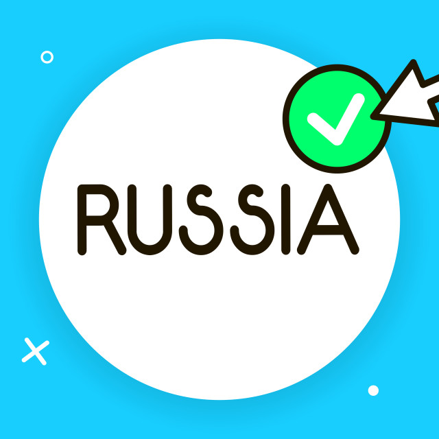 """""""Conceptual hand writing showing Russia. Business photo text worlds largest..."""" stock image"""