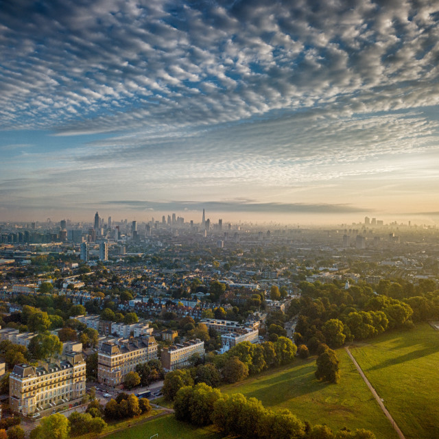 """South London from Clapham"" stock image"