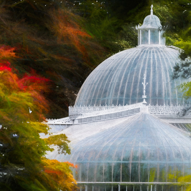 """Autumn at The Kibble Palace"" stock image"