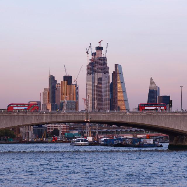 """City of London and Waterloo Bridge #2"" stock image"