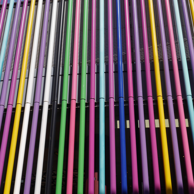 """Colour Pipes"" stock image"