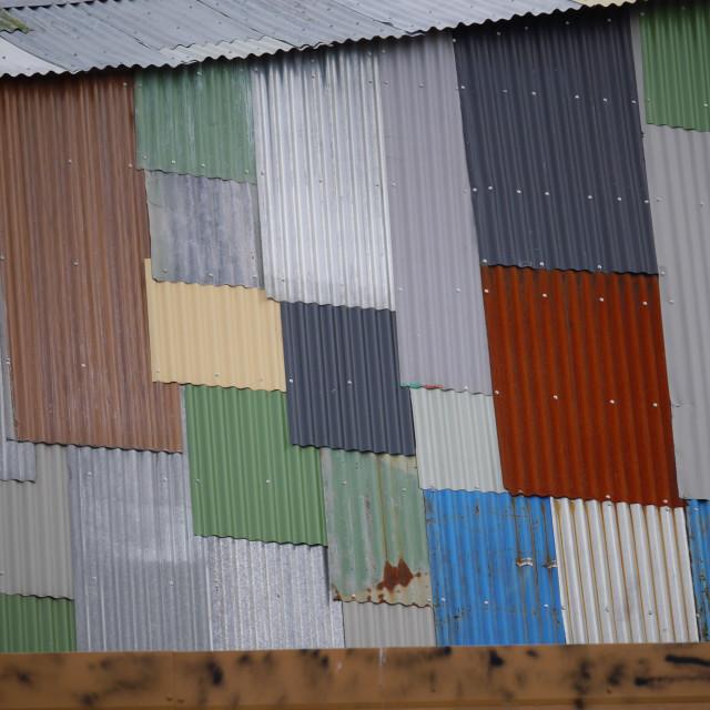 """Corrugated Pattern"" stock image"