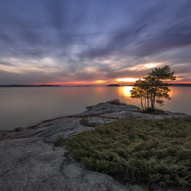 """Killbear Provincial Park sunset 2"" stock image"