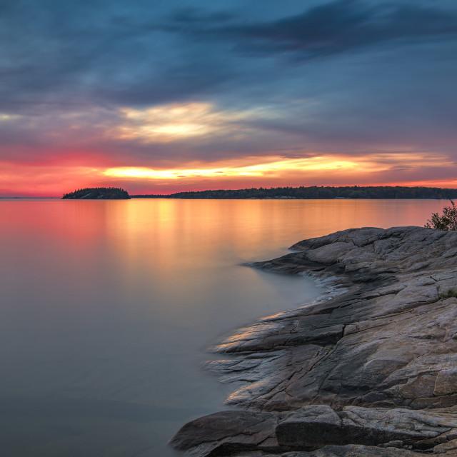 """Killbear Provincial Park sunset 1"" stock image"