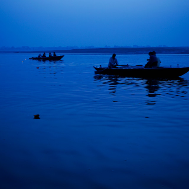 """Ganges in blue"" stock image"