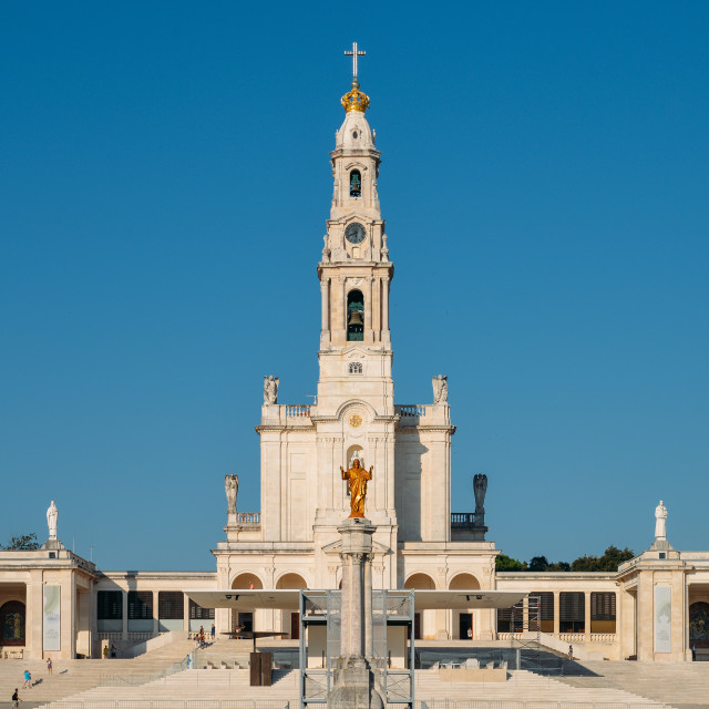 """""""The Sanctuary of Fatima, which is also referred to as the Basilica of Our..."""" stock image"""