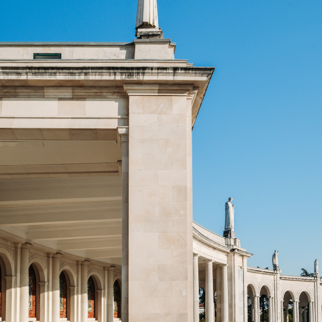"""""""Sanctuary of Fatima, Portugal. Basilica of Our Lady of the Rosary seen from..."""" stock image"""