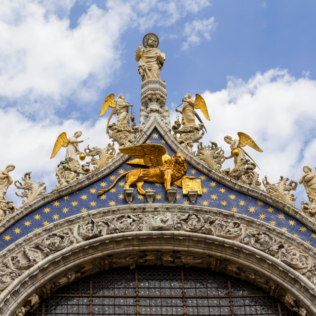 """""""Detail of St. Mark's Basilica, St. Marks Square; Venice, Italy"""" stock image"""