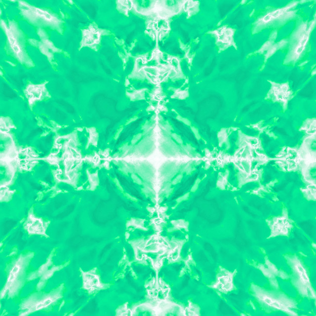 """Green kaleidoscope pattern background"" stock image"
