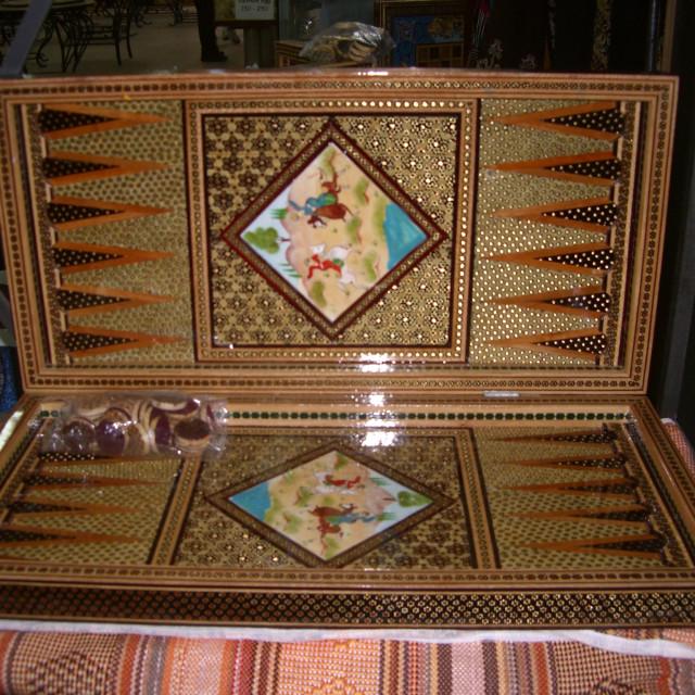 """Jordanian Backgammon Set, Jordan 2011"" stock image"