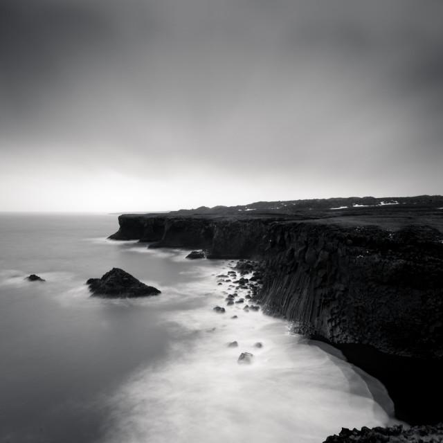 """Cliff - Arnastapi - Iceland"" stock image"