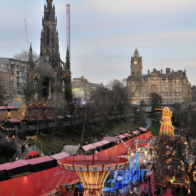 """Edinburgh Christmas Market"" stock image"