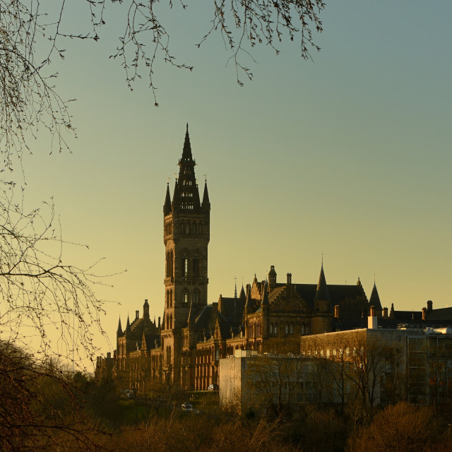 """University of Glasgow"" stock image"