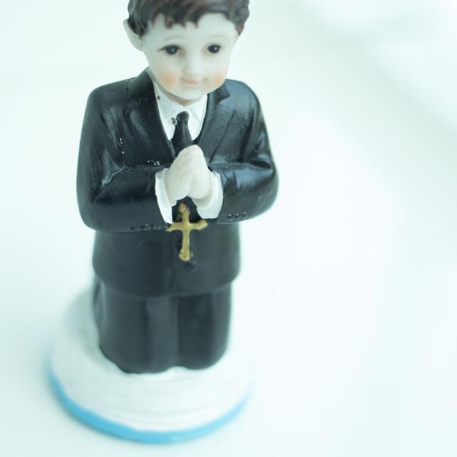 """""""Cake topper Catholic communion"""" stock image"""