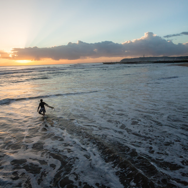 """Sunrise Going Surfing"" stock image"