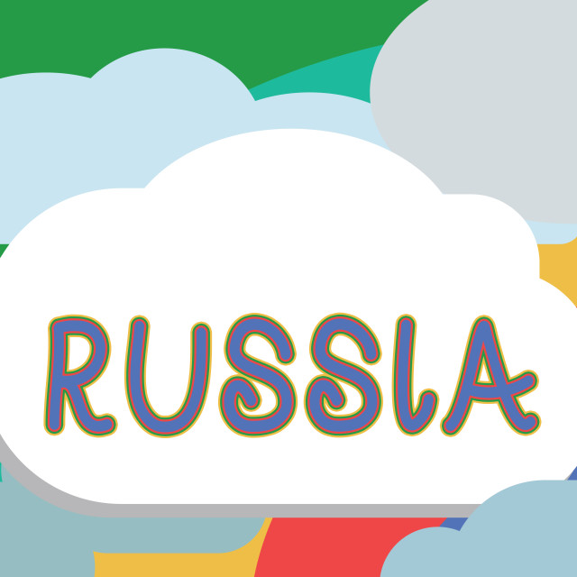 """""""Text sign showing Russia. Conceptual photo worlds largest nation borders..."""" stock image"""