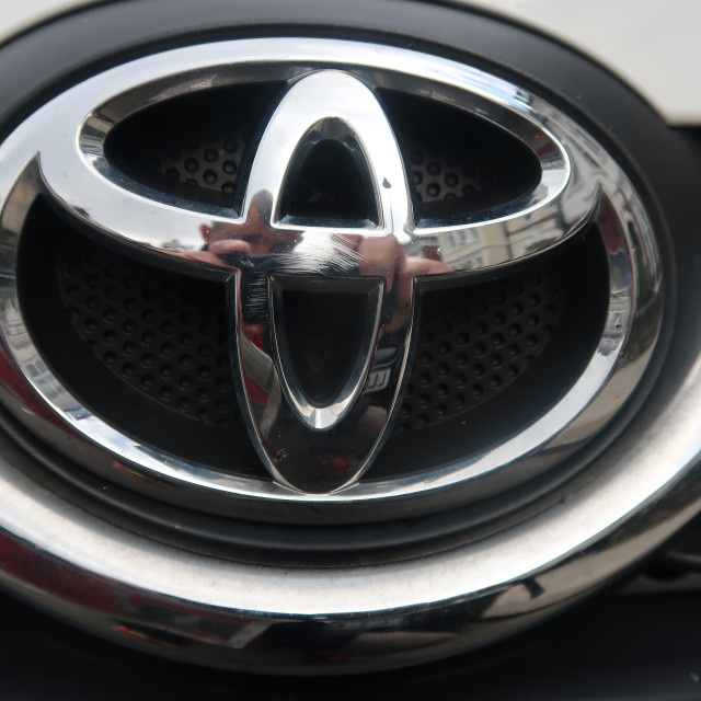 """Toyota badge"" stock image"
