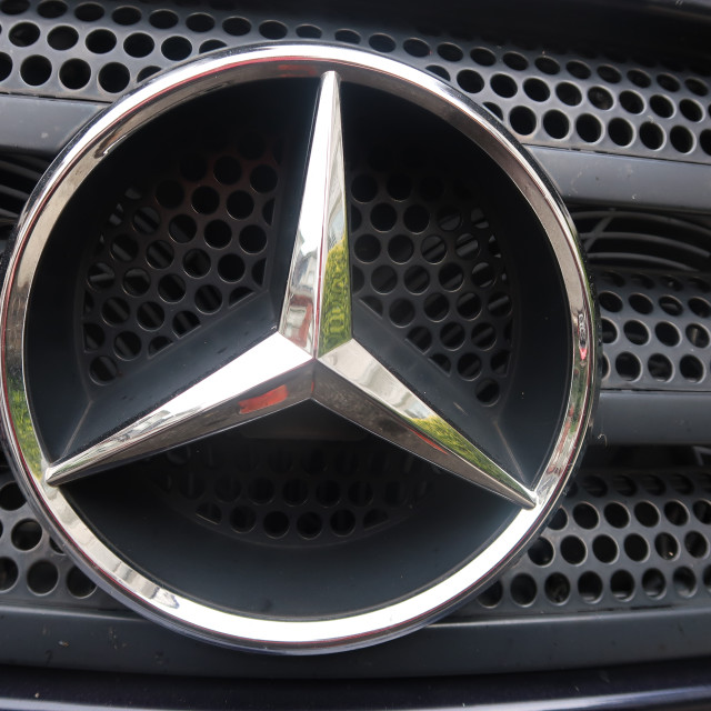 """Mercedes Badge"" stock image"
