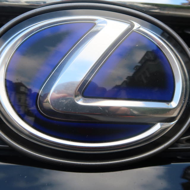 """Lexus Badge"" stock image"