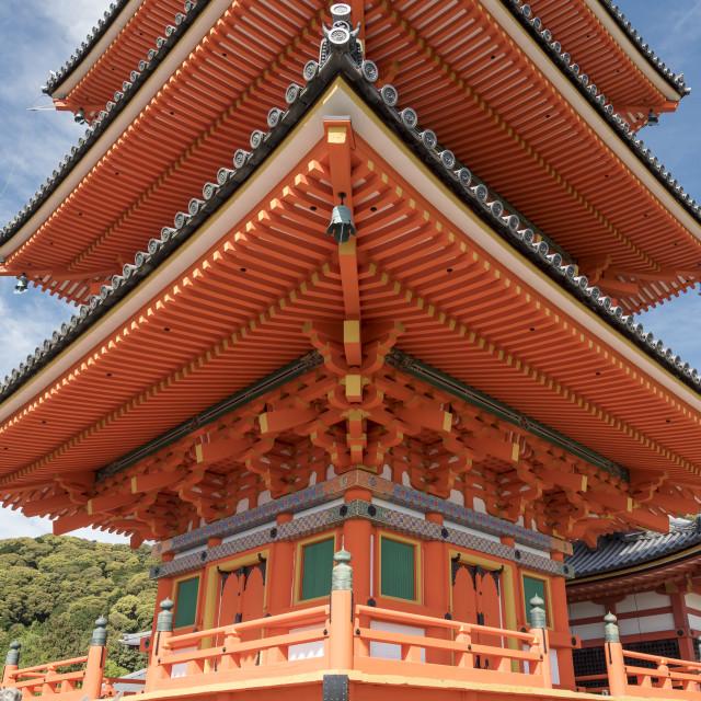"""""""Kiyomizu-dera Temple, Kyoto"""" stock image"""