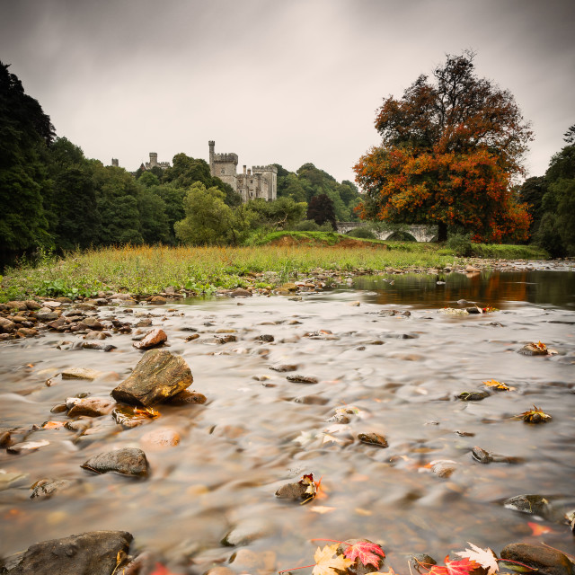 """An Autumnal Lismore Castle"" stock image"
