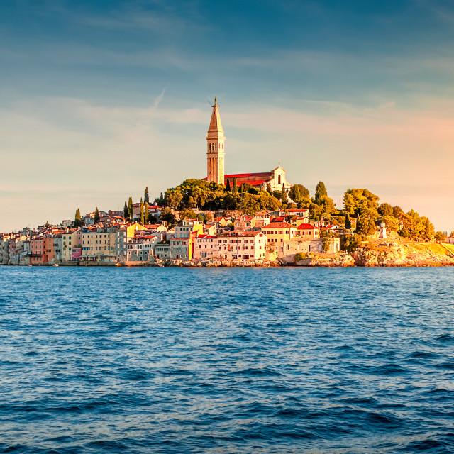 """View of Rovinj, Croatia"" stock image"