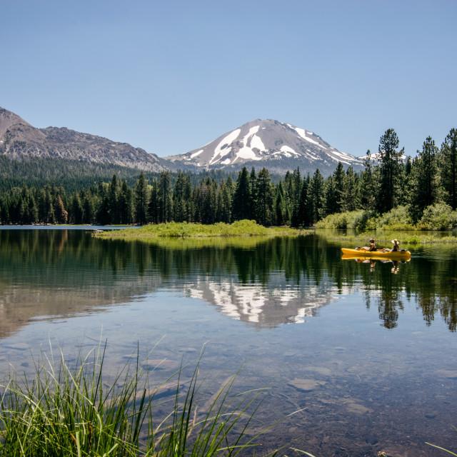 """Mt. Lassen in the distance"" stock image"