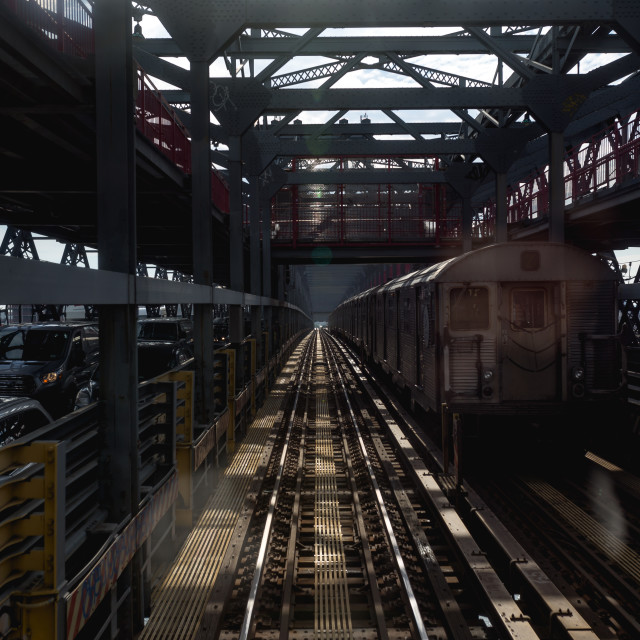 """NYC Subway"" stock image"