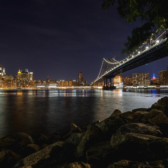 """""""Williamsburg Bridge"""" stock image"""