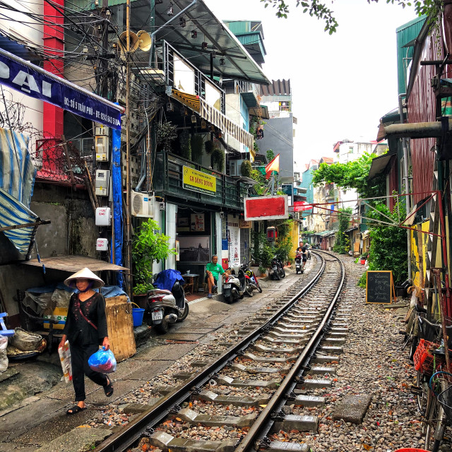 """Hanoi Street Train"" stock image"