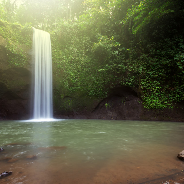 """Tibumana waterfall in Bangli, Bali Indonesia"" stock image"