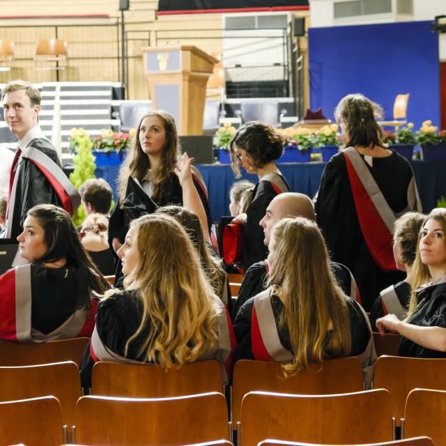 """University Graduate Students At Graduation Hall"" stock image"