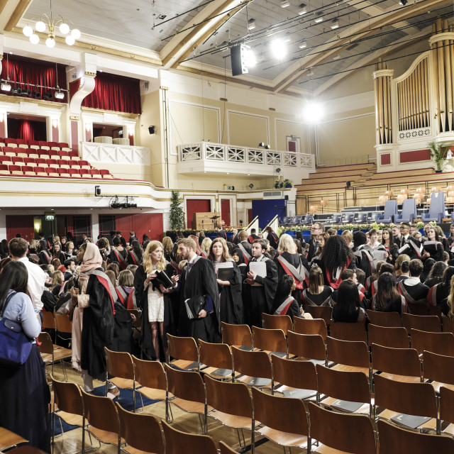 """University Graduates At Graduation Hall"" stock image"