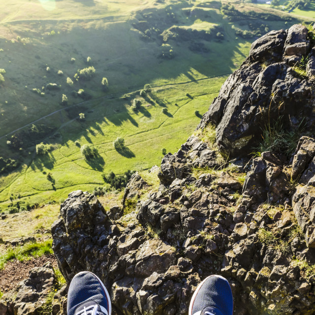 """""""Scenic View From Arthur's Seat"""" stock image"""