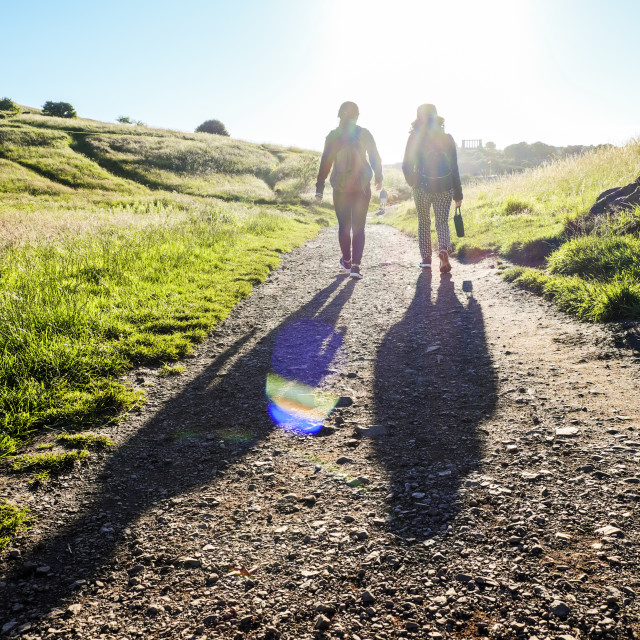 """People Walking On A trail"" stock image"