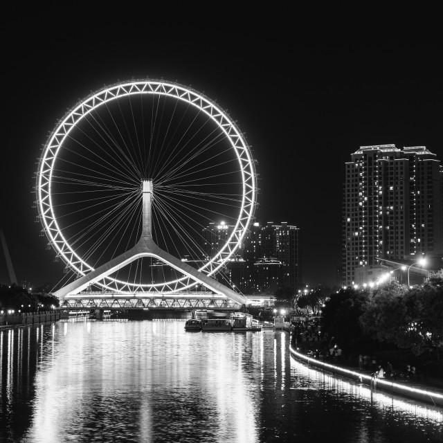 """""""Tianjin Ferris Wheel"""" stock image"""