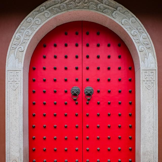 """""""Oriental Chinese door"""" stock image"""