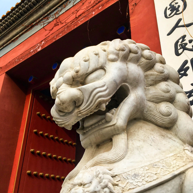 """Chinese guardian lion"" stock image"