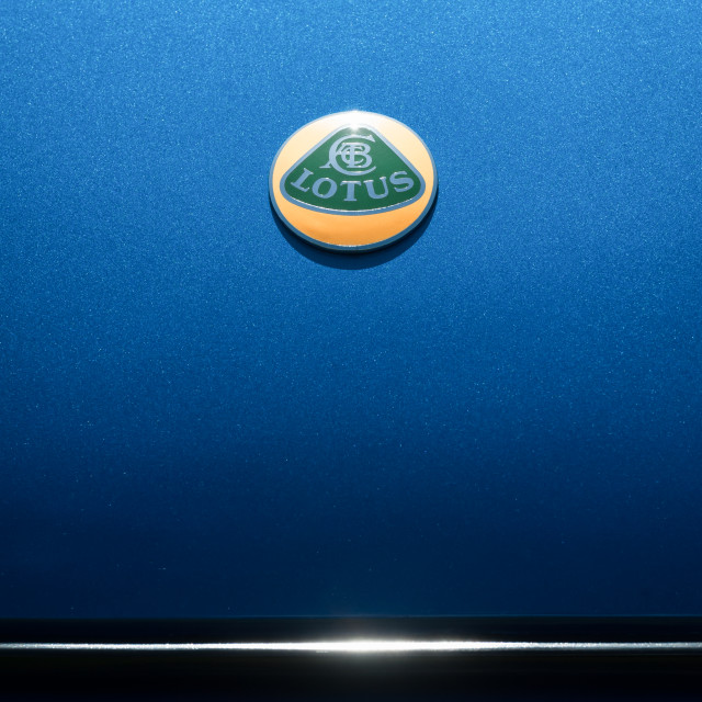 """Lotus hood badge"" stock image"