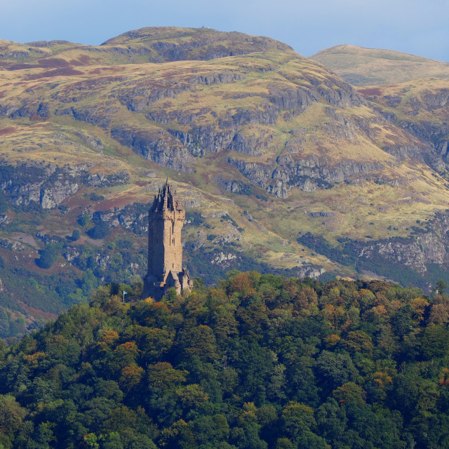 """""""National Wallace Monument"""" stock image"""
