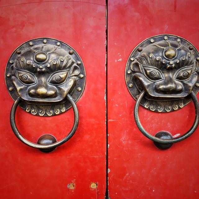 """Chinese Door Knocker"" stock image"