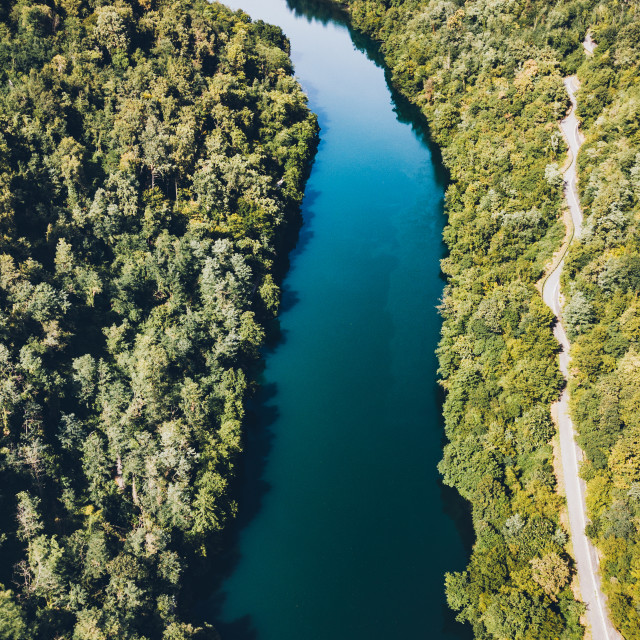 """Aerial View of River"" stock image"
