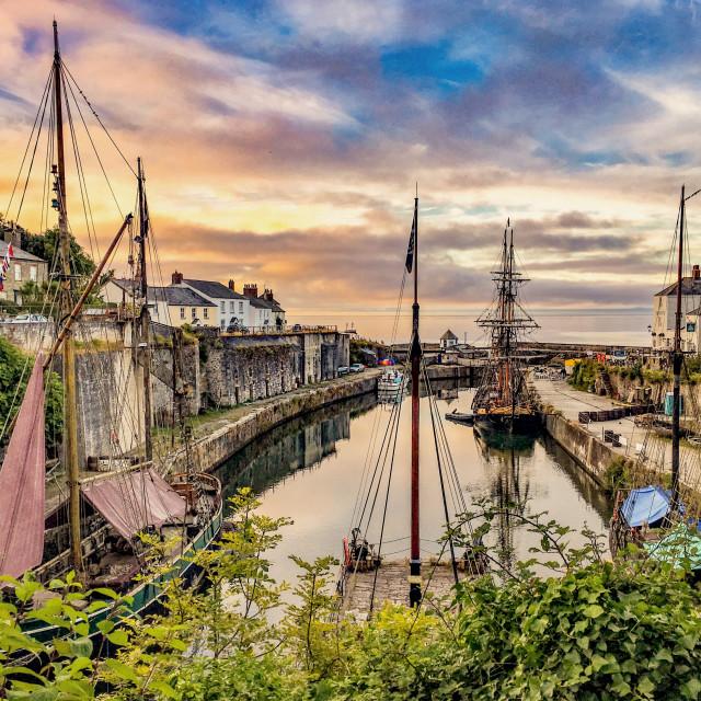 """Charlestown Harbour"" stock image"
